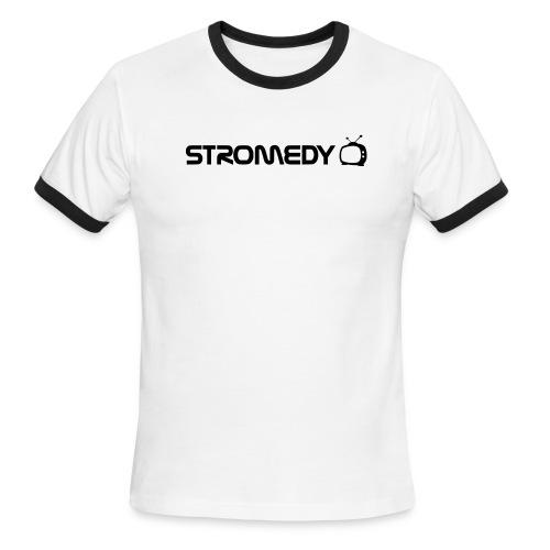 White Stromedy T-Shirt - Men's Ringer T-Shirt