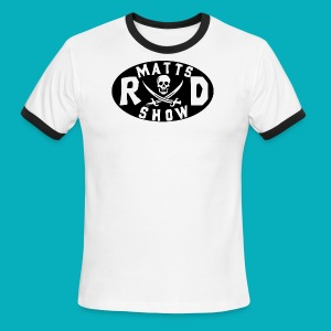 Round Pirate Logo - Men's Ringer T-Shirt