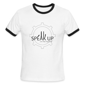 speak up logo 1 - Men's Ringer T-Shirt