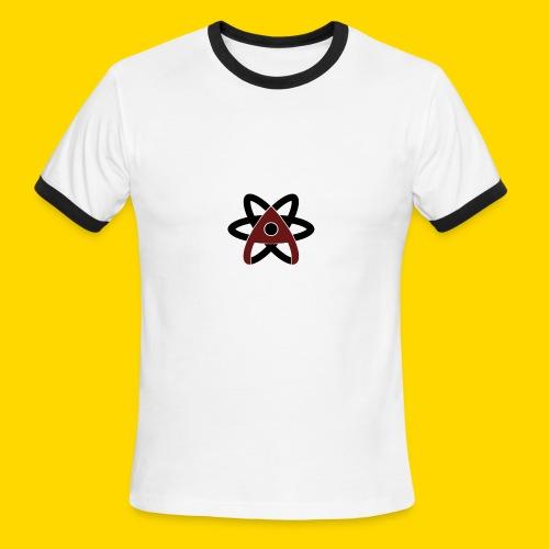 Atom Symbol - Men's Ringer T-Shirt