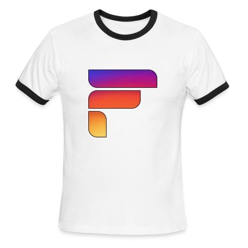 Frosty Rainbow Logo Center - Men's Ringer T-Shirt