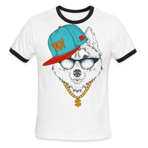 cool husky - Men's Ringer T-Shirt