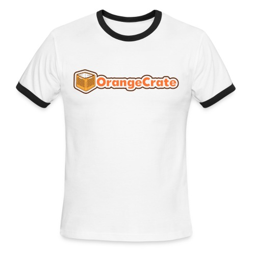 Horizontal OrangeCrate - Men's Ringer T-Shirt