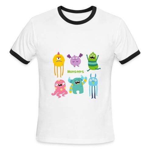The monsters full colour - Men's Ringer T-Shirt