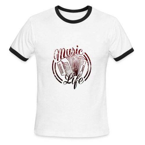 MusicLife2 - Men's Ringer T-Shirt