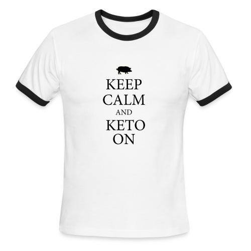Keto keep calm2 - Men's Ringer T-Shirt