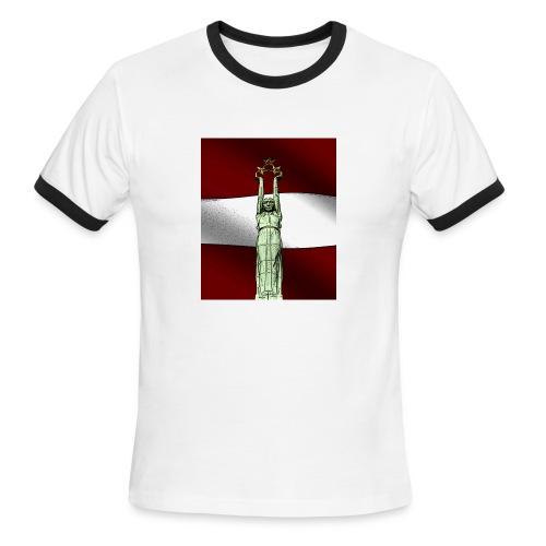 red-Latvija-Flag - Men's Ringer T-Shirt