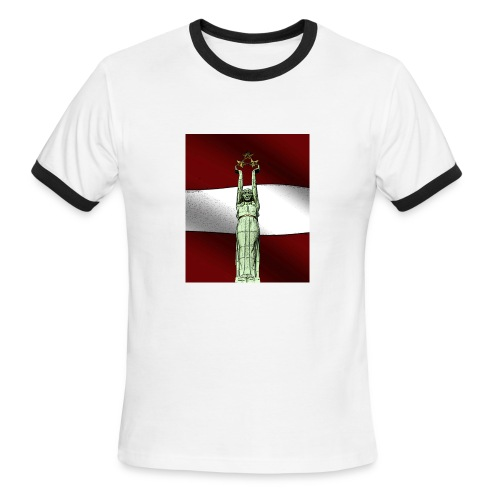 red-Latvija-Flag - Men's Ringer T-Shirt