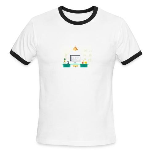 workspace - Men's Ringer T-Shirt
