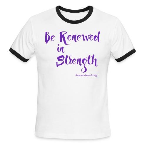 Be Renewed in Strength - Men's Ringer T-Shirt