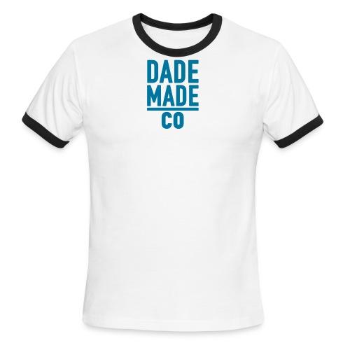 dademadelogoaqua - Men's Ringer T-Shirt