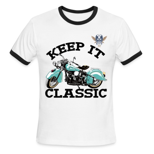keep it classic1 - Men's Ringer T-Shirt