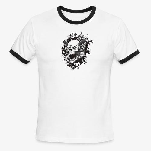 skull royalty drawing - Men's Ringer T-Shirt