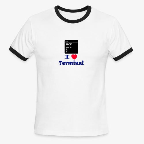 I Love Terminal - Men's Ringer T-Shirt
