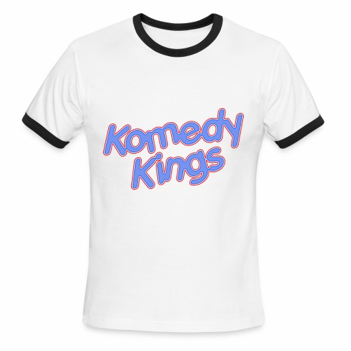 KomedyKings Brand Name Tee - Men's Ringer T-Shirt