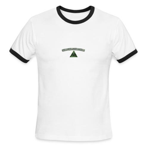 Illuminati Chills Times 4 - Men's Ringer T-Shirt