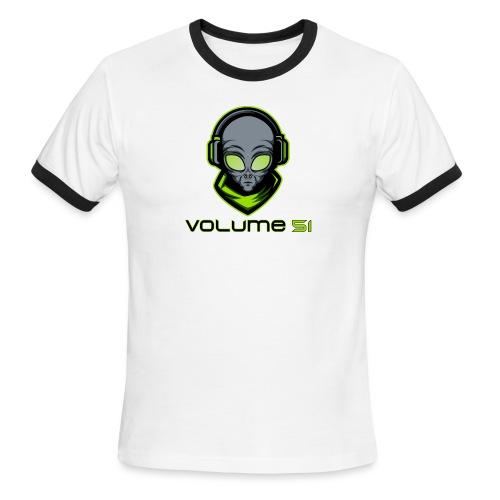 Volume 51 Text Logo - Men's Ringer T-Shirt