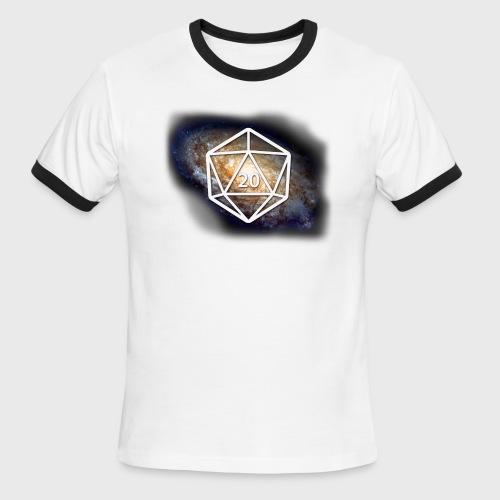 Geek Galaxy d20 - Men's Ringer T-Shirt