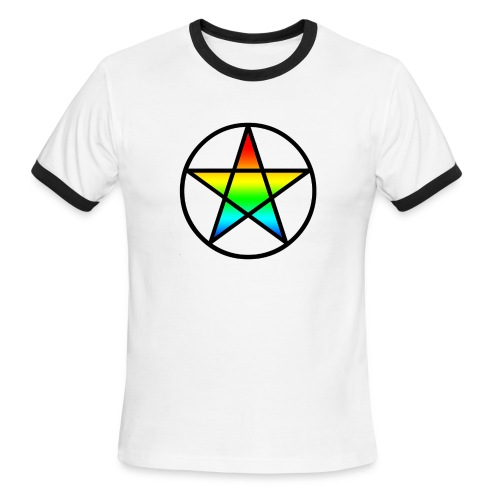 Official Iridescent Tee-Shirt // Men's // White - Men's Ringer T-Shirt