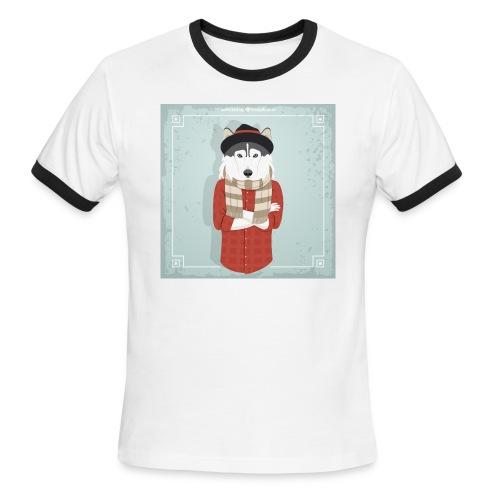 Hispter Dog - Men's Ringer T-Shirt
