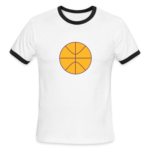Basketball purple and gold - Men's Ringer T-Shirt