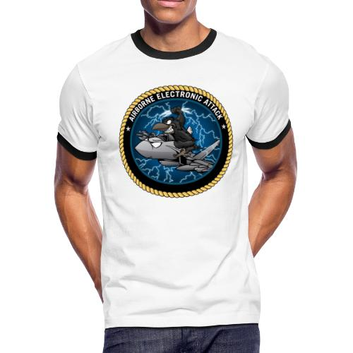 Airborne Electronic Attack EA-18 Growler Cartoon - Men's Ringer T-Shirt