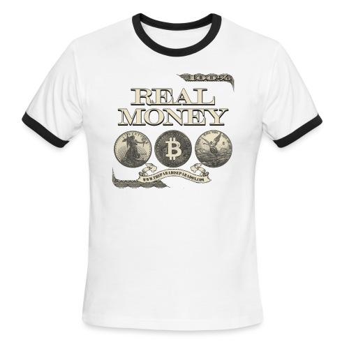 Real Money half border - Men's Ringer T-Shirt