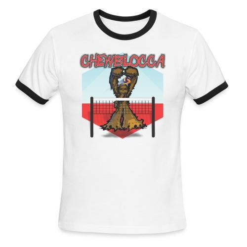 Chewblocca Volleyball Team Logo - Men's Ringer T-Shirt