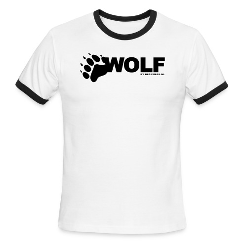 wolf by bearwear new - Men's Ringer T-Shirt