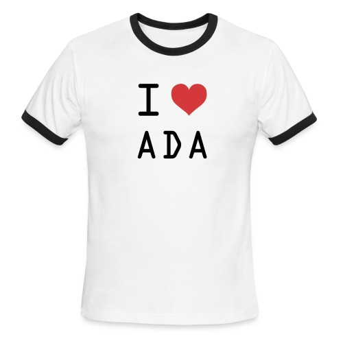 I HEART ADA (Cardano) - Men's Ringer T-Shirt