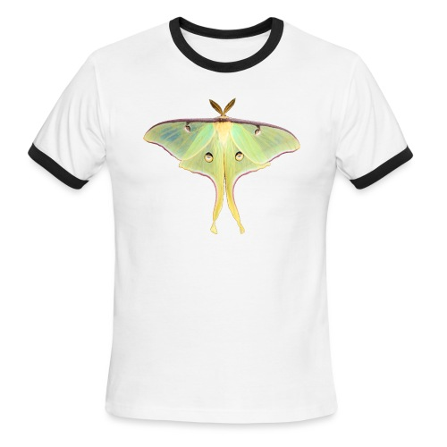 GREEN LUNA MOTH - Men's Ringer T-Shirt