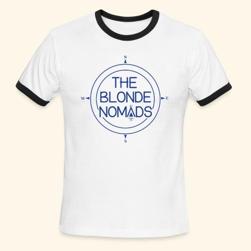 The Blonde Nomads Blue Logo - Men's Ringer T-Shirt