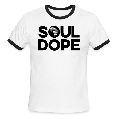souldope Black Logo - Men's Ringer T-Shirt