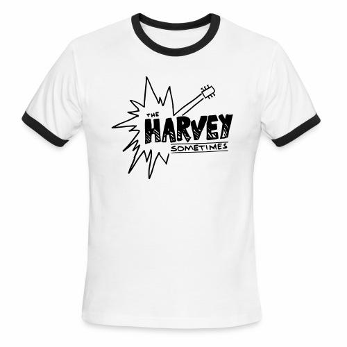 Band Logo - Black - Front and Back - Men's Ringer T-Shirt