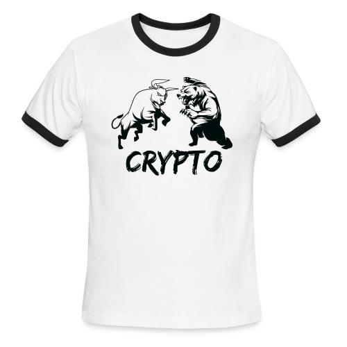 CryptoBattle Black - Men's Ringer T-Shirt
