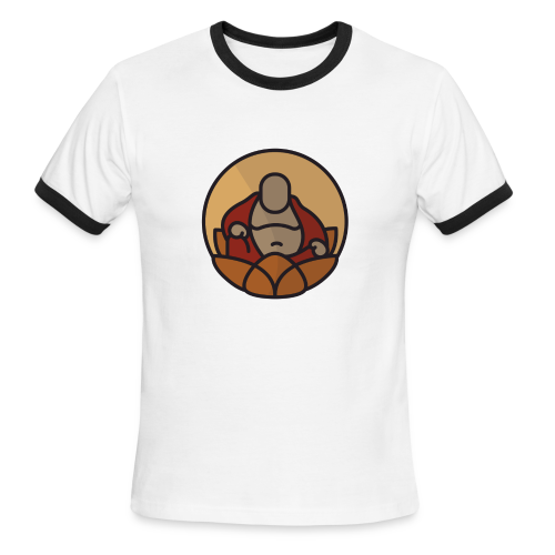 AMERICAN BUDDHA CO. COLOR - Men's Ringer T-Shirt