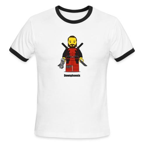 Downphoenix Character Logo - Men's Ringer T-Shirt