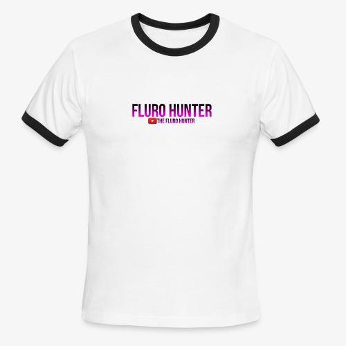 The Fluro Hunter Black And Purple Gradient - Men's Ringer T-Shirt