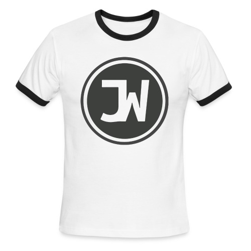 Grey Johannes With Logo - Men's Ringer T-Shirt