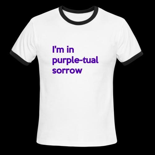 Purple-tual sorrow - Men's Ringer T-Shirt