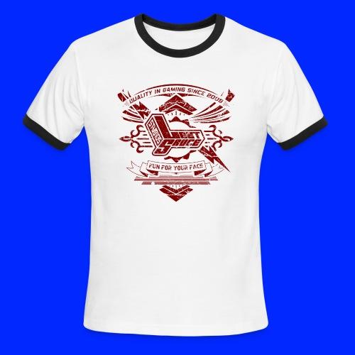 Vintage Leet Sauce Studios Crest Red - Men's Ringer T-Shirt