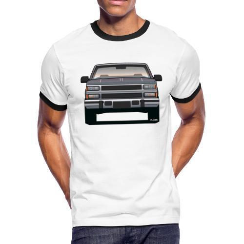 Design Icon: American Bowtie Silver Urban Truck - Men's Ringer T-Shirt