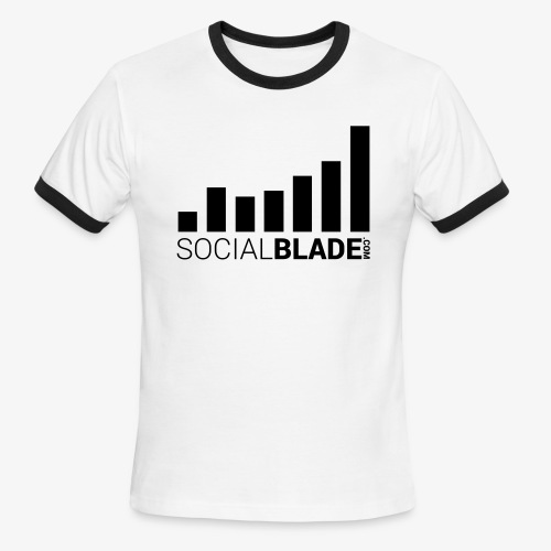 Socialblade (Dark) - Men's Ringer T-Shirt
