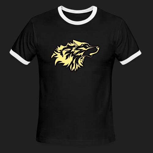 wolfepacklogobeige png - Men's Ringer T-Shirt