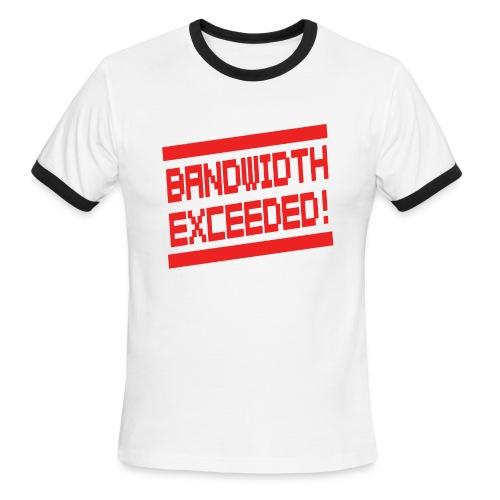 Vid Vicious 2 0 Bandwidth Exceeded Logo by Dedderz - Men's Ringer T-Shirt