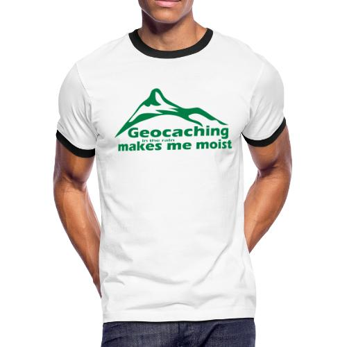 Geocaching in the Rain - Men's Ringer T-Shirt