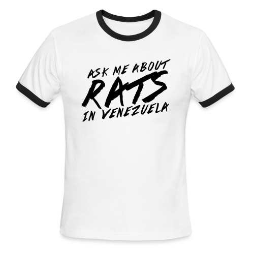 ask me about rats - Men's Ringer T-Shirt