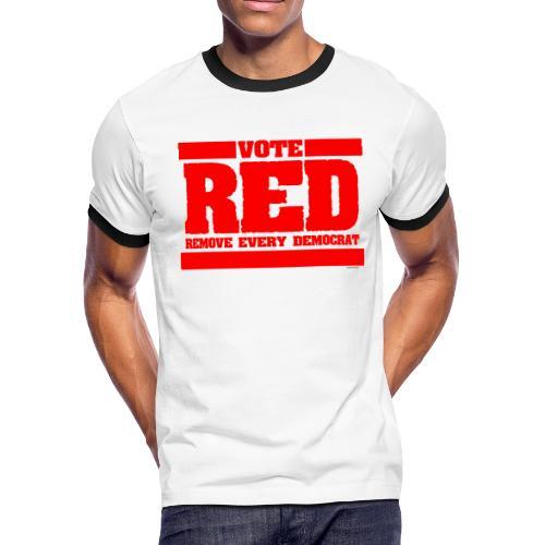 Remove every Democrat - Men's Ringer T-Shirt