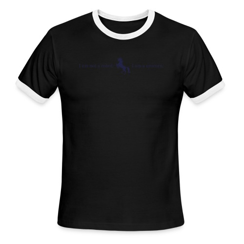 unicorn 3 final dark blue - Men's Ringer T-Shirt