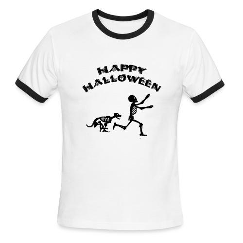 Halloween Boy and Dog - Men's Ringer T-Shirt